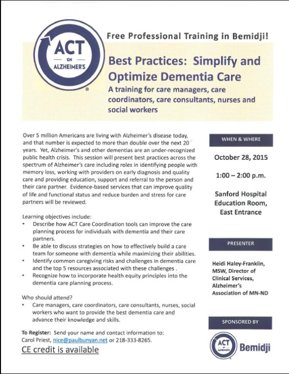 act training care mgrs